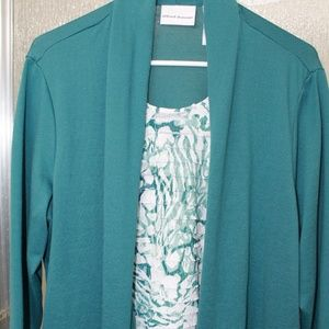 Alfred Dunner cardigan with faux tank